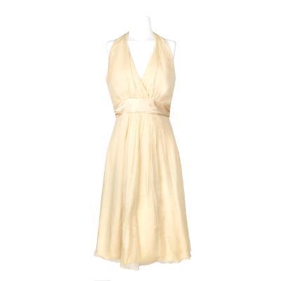 halter neck dress nude
